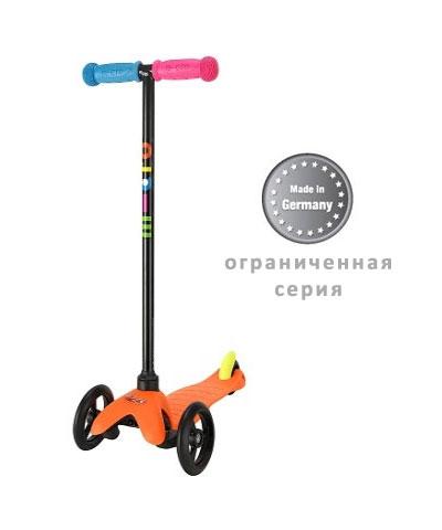 mini micro neon orange mm0076 Самокат мини микро для детей 1 5 лет Mini Micro Sporty Neon, цвет оранжевый