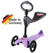 mm neon spo purpul 3v1 v Самокат Mini Micro Candy лиловый с прозрачными колесами MM0186