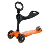 Maxi Micro оранжевый с сидением 3в1