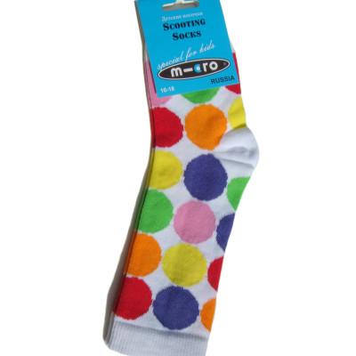 Golfyi detskie Mikro Neonovyiy goroh Micro Neon Dots 400x400 Гольфы детские Неоновый горох в стиле Микро. Подарим нашим покупателям самокатов!