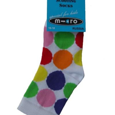 Noski detskie Mikro Neonovyiy goroh Micro Neon Dots 400x400 Носки детские Неоновый горох в стиле Микро. Подарим нашим покупателям самокатов!