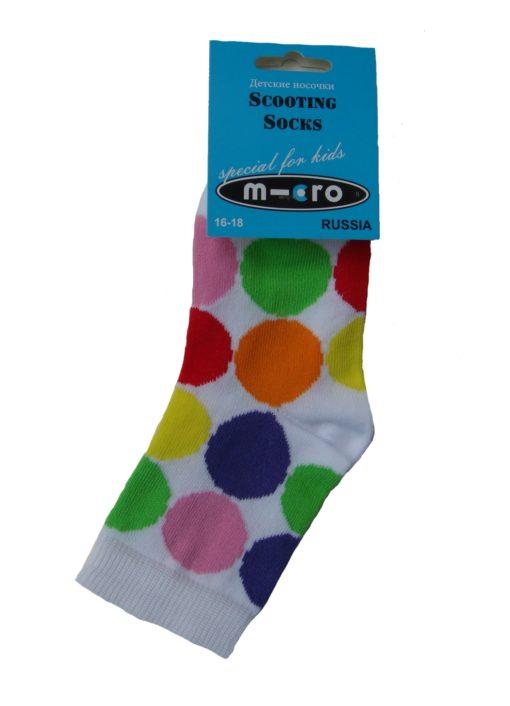 Noski detskie Mikro Neonovyiy goroh Micro Neon Dots 510x706 Носки детские Неоновый горох в стиле Микро. Подарим нашим покупателям самокатов!