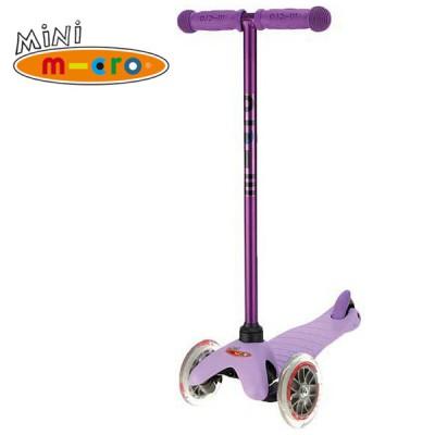 Samokat Mini Micro Candy lilovyiy sirenevyiy MM0186 Самокат Mini Micro Candy лиловый с прозрачными колесами MM0186