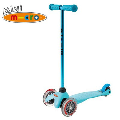 Samokat Mini Micro Candy siniy MM0184 Самокат Mini Micro Candy синий с прозрачными колесами MM0184