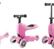 mini2go pink 180x165 Самокат Micro Mini2Go розовый c сиденьем MM0208
