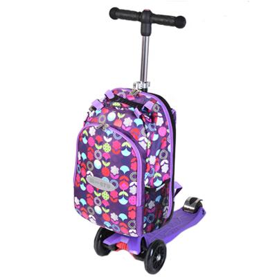 mm4in1siren 1 Самокат трехколесный Maxi Micro 4в1 Floral с рюкзаком ручка Т MM0189