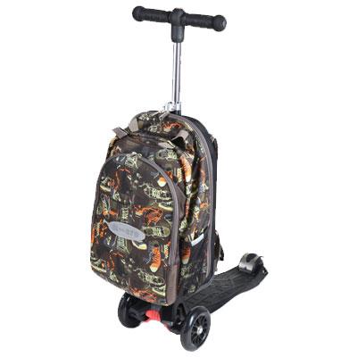 mm4v1 black 1 Самокат трехколесный Maxi Micro 4в1 Shoe с рюкзаком ручка Т MM0187