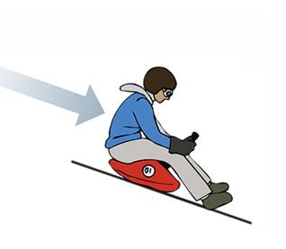 Как кататься на карвинговых санках