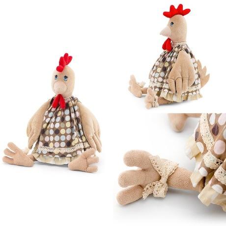 Мягкая игрушка Курочка Варя 40см