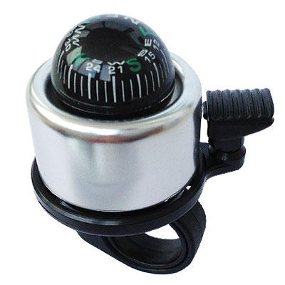 Bell compas silver 1 Звонок для самоката / беговела Компас Серебро   Compass Silver FB BL08