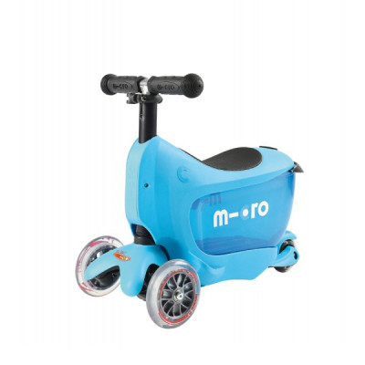 Samokat Micro Mini2Go goluboy c sidenem MM0209 Самокат Micro Mini2Go голубой c сиденьем MM0209