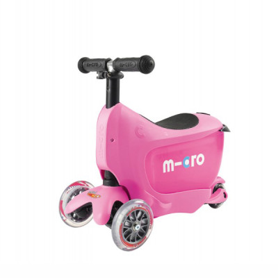 Samokat Micro Mini2Go rozovyiy c sidenem MM0208 Самокат Micro Mini2Go розовый c сиденьем MM0208