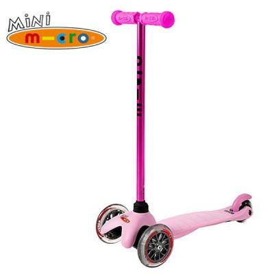 Samokat Mini Micro Candy rozovyiy MM0185 Самокат Mini Micro Candy розовый с прозрачными колесами MM0185
