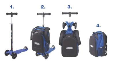 maximicro RucksackTbar 4in1 blue AC9008 4 400x214 1 Самокат трехколесный Maxi Micro 4в1 синий с рюкзаком ручка Т MM0170