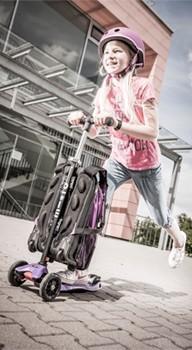 maximicro RucksackTbar 4in1 purple AC9010 1 1 Самокат трехколесный Maxi Micro 4в1 сиреневый с рюкзаком ручка Т MM0171