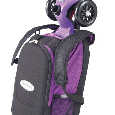 maximicro RucksackTbar 4in1 purple AC9010 3 400x400 1 Самокат трехколесный Maxi Micro 4в1 сиреневый с рюкзаком ручка Т MM0171