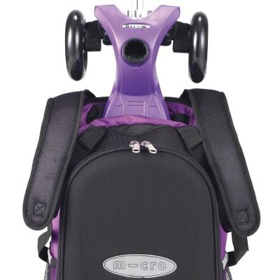 maximicro RucksackTbar 4in1 purple AC9010 6 400x400 1 Самокат трехколесный Maxi Micro 4в1 сиреневый с рюкзаком ручка Т MM0171