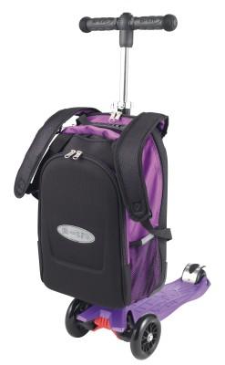 maximicro RucksackTbar 4in1 purple AC9010 7 247x400 1 Самокат трехколесный Maxi Micro 4в1 сиреневый с рюкзаком ручка Т MM0171
