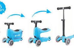 mini2go blue 247x164 Самокат Micro Mini2Go голубой c сиденьем MM0209