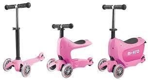 mini2go pink Самокат Micro Mini2Go розовый c сиденьем MM0208