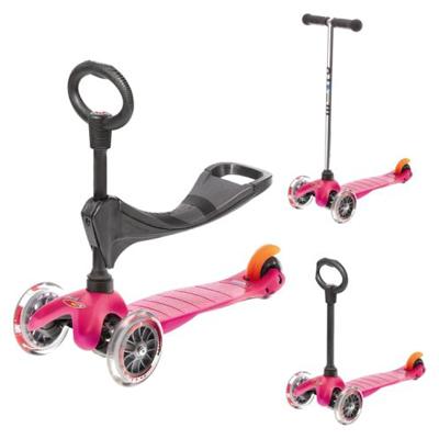 mini micro pinkO mm0086 1 Самокат трехколесный Mini Micro 3в1 розовый MM0002sid