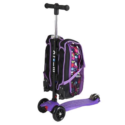 mm4in1siren2 1 Самокат трехколесный Maxi Micro 4в1 Floral с рюкзаком ручка Т MM0189