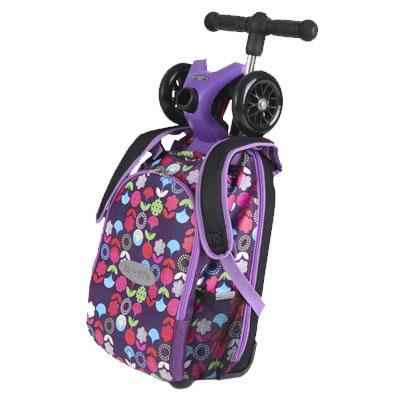 mm4v1 siren4 1 Самокат трехколесный Maxi Micro 4в1 Floral с рюкзаком ручка Т MM0189