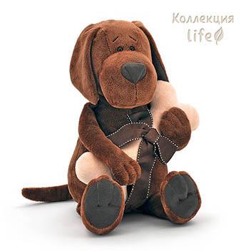 myagkaya igrushka Pyos Barboska s kostochkoy 45sm orange toys Мягкая игрушка Пёс Барбоська с косточкой 45см orange toys