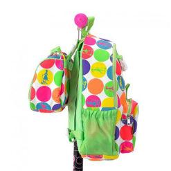 sumkaGoroh2 1 247x247 Рюкзак + сумочка ланчбокс для Mini Micro & Maxi Micro. Неоновый горох AC4441