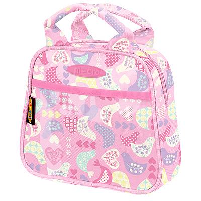 sumochka pink 1 Сумочка для Mini Micro & Maxi Micro. Розовая с птичками AC4485